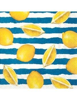 Boston International Summer Lemons Blue - Paper Napkin