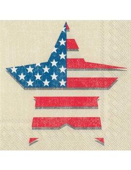 Boston International Land That I Love Star - Paper Napkin