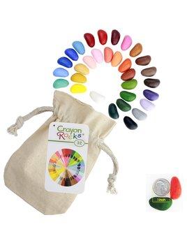 Crayon Rocks 32 Colors in a Muslin Bag