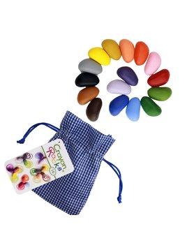 Crayon Rocks 16 Color Crayon Blue Gingham Bag