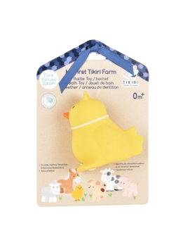 Tikiri Toys LLC Chick - Natural Rubber Teether