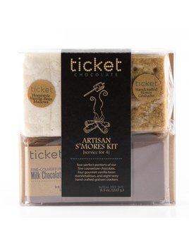 Ticket Chocolate Artisan Smores Kits - Service for Four Classic