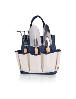 Picnic Time Large Garden Tote w/ Tools - Navy