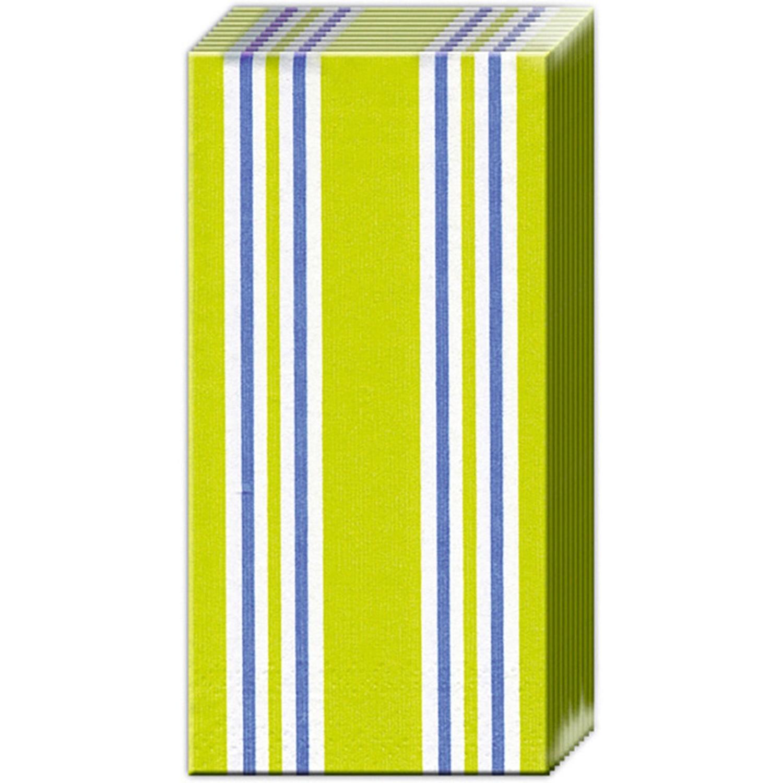 Boston International Candy Stripe Light Green Pocket Tissue