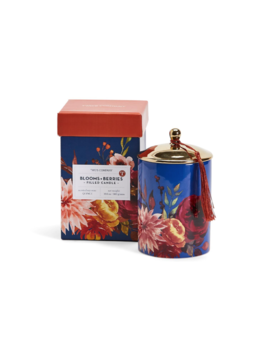 Two's Company Blooms & Berries Scented Candle in Gift Box