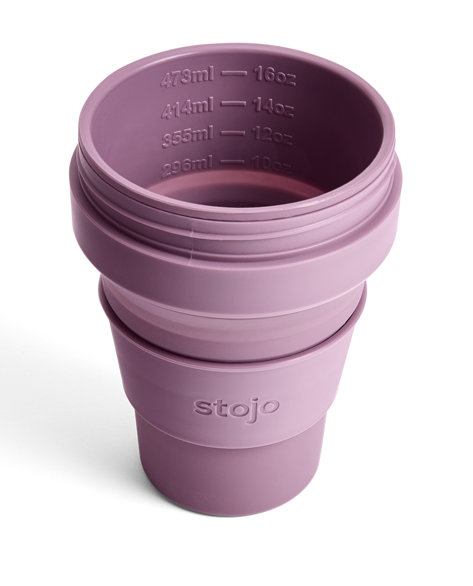 Stojo 16oz Collapsible Cup - Plum