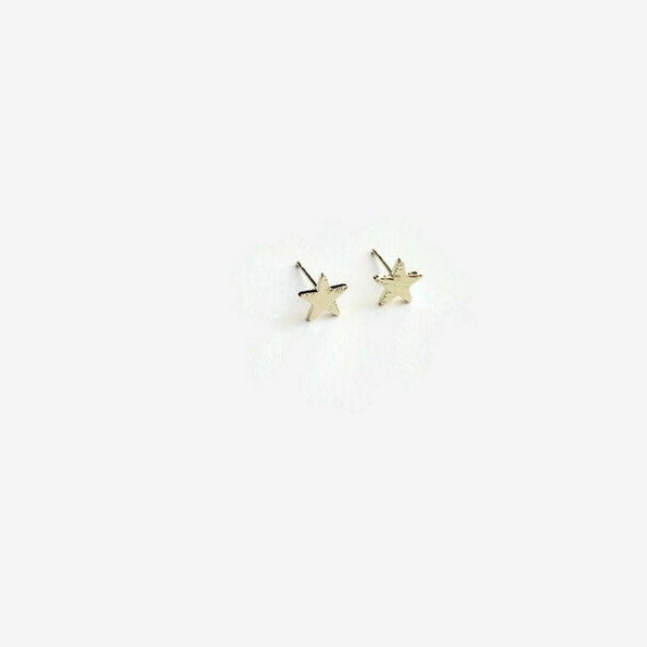 Wild Juniper Gold Stud Earrings - Stars