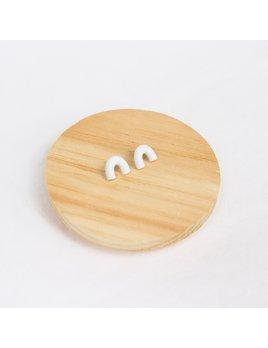 Skinny Dip Jewelry Pippa Mini Stud Earring Speckled White