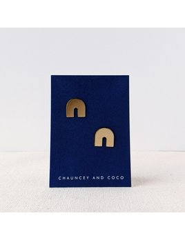 Chauncey and Coco Empire Brass Arch Studs