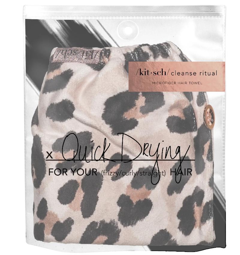 Kitsch Microfiber Hair Towel - Leopard