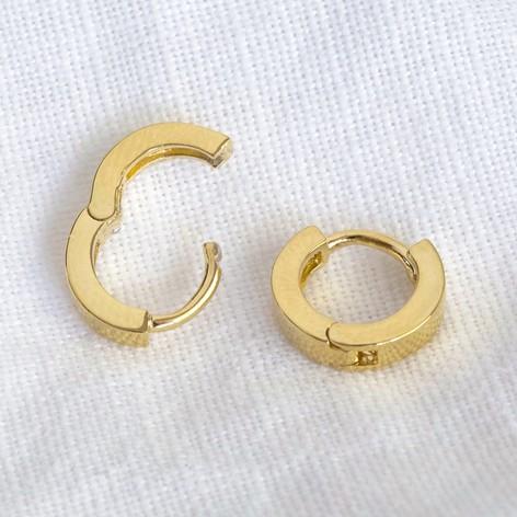 Lisa Angel Tiny Huggie Hoop Earrings Gold