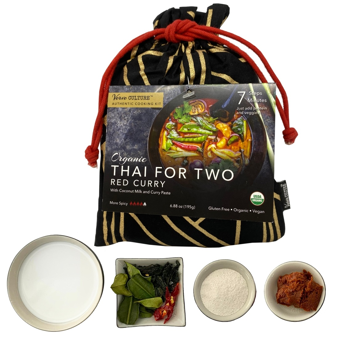 Verve Culture Thai Cooking for Two Cooking Kit - Organic Red Curry