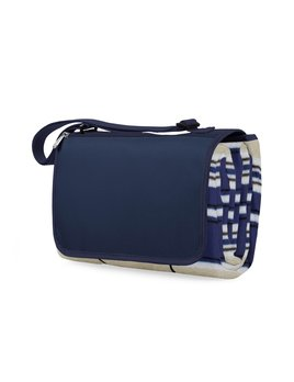 Picnic Time Blanket Tote - Blue Stripe