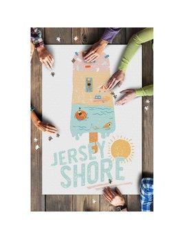 Lantern Press 1000 Piece Puzzle Jersey Shore, NJ