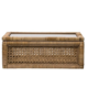 Creative Co-op Woven Rattan & Wood Display Boxes w/ Glass Lid