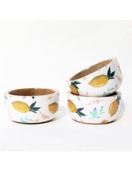 Mary Square Bowls Set of 3 - Lemon Love