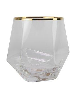 Mary Square Stemless Geometric Wine Glass Set