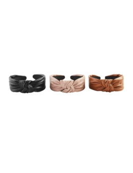 Mudpie Leather Knotted Headband