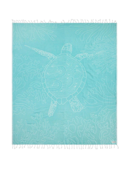 Sand Cloud Turquoise Sea Turtle Reef Large Towel