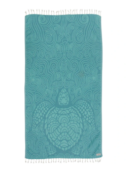 Sand Cloud Mint Swirl Turtle Towel