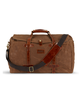 Roosevelt Supply Co. Rugged Waxed Canvas Tan Duffle