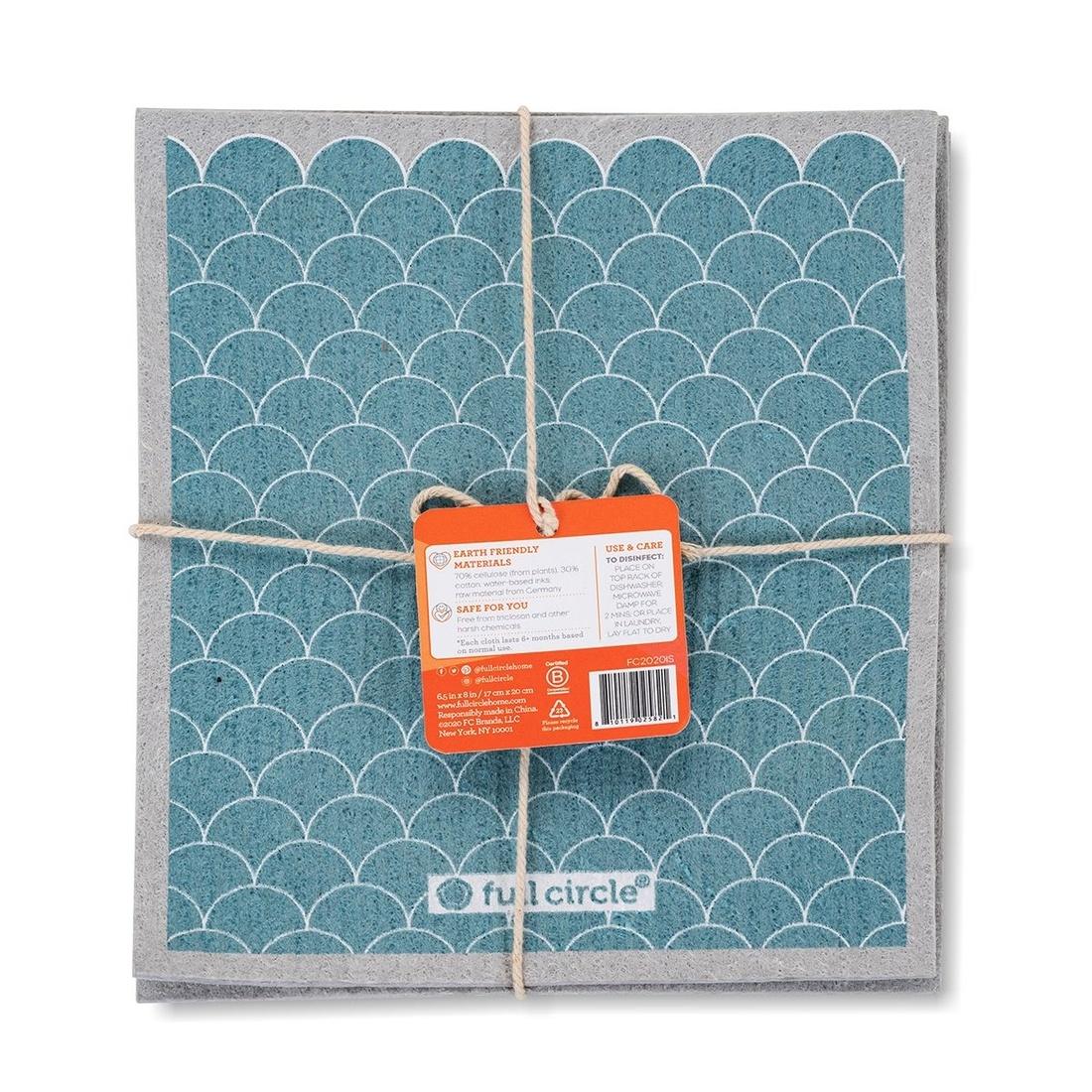 Full Circle Home Good Sheet Plant-Based Dishcloths (3Pk)