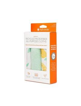 Full Circle Home Renew Recycled All - Purpose Microfiber Cloth (Set of 3): Citrus Print