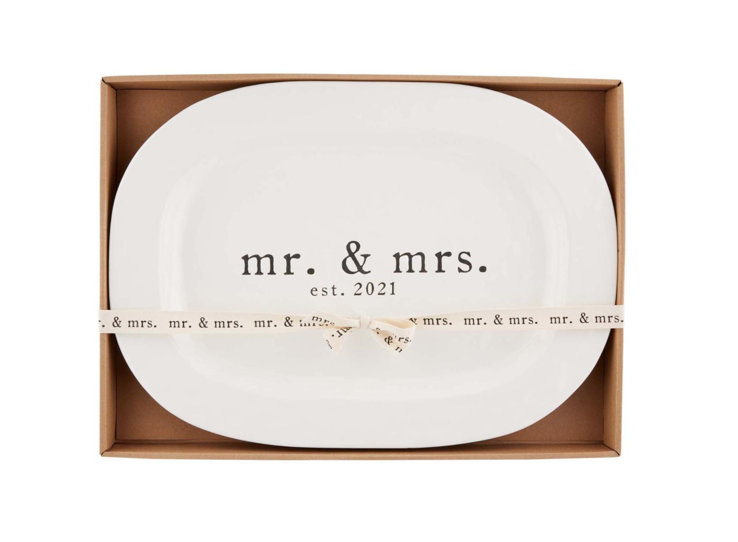 Mudpie Mr Mrs 2021 Platter