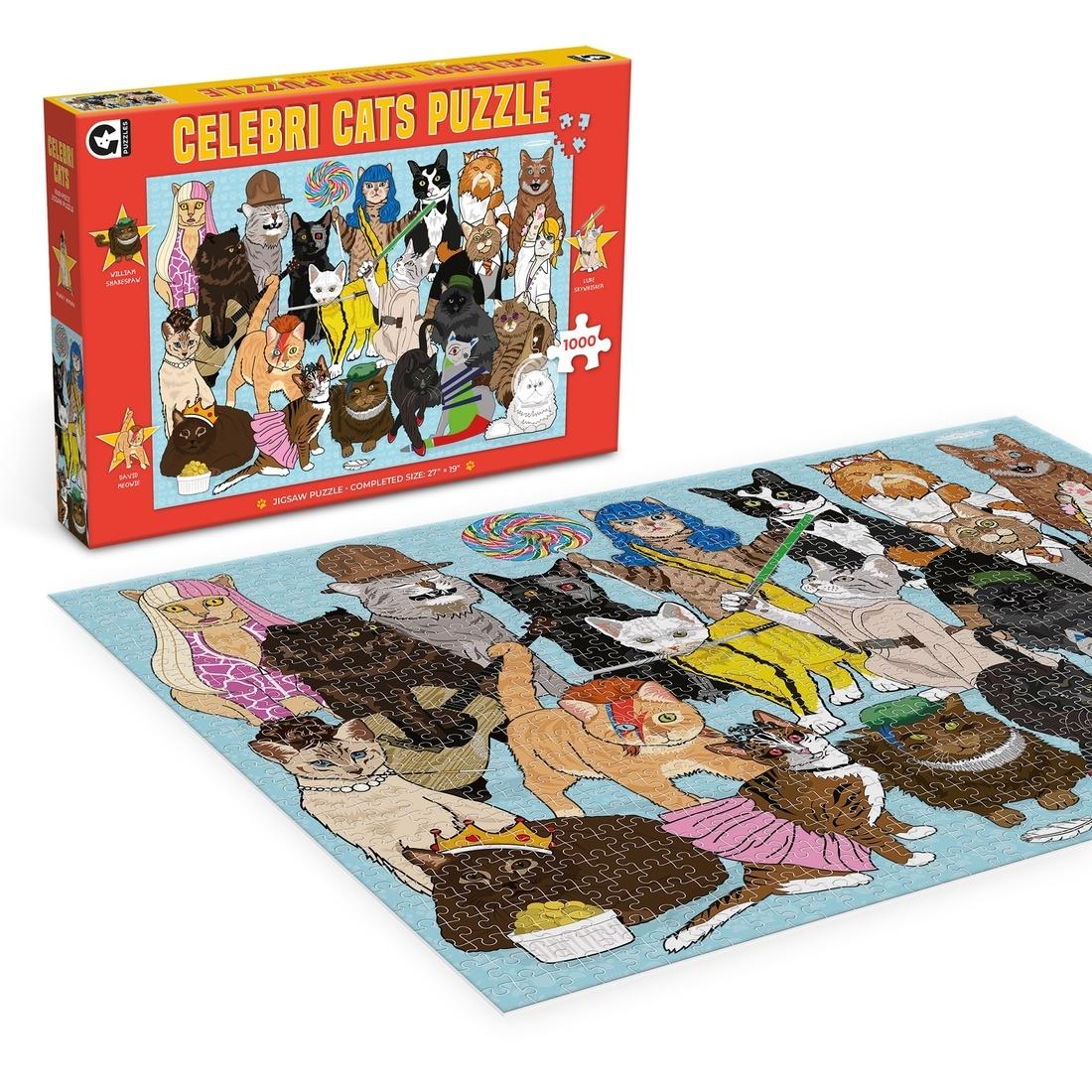 Ginger Fox Celebri Cats Jigsaw Puzzle