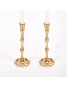 8 Oak Lane Candlestick Small - Gold Bamboo