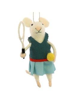 HomArt Tennis Player Gal Mouse Ornament