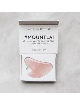 Mount Lai The Rose Quartz Gua Sha Facial Lifting Tool