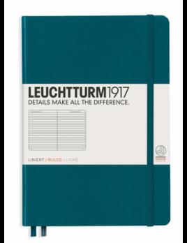 Leuchttrum1917 Notebooks Hardcover Medium - Pacific Green - Ruled