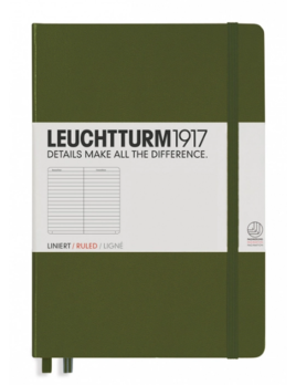 Leuchttrum1917 Notebooks Hardcover Medium - Army - Ruled