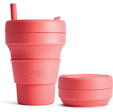 Stojo 24oz Collapsible Cup - Coral