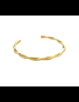 Maya J Twisted Gold Cuff