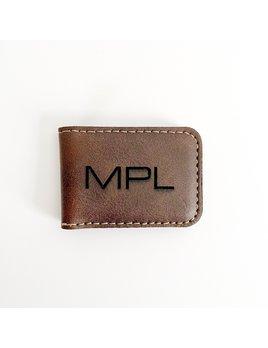 P Graham Dunn Money Clip - Brown