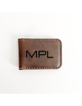 P Graham Dunn Personalized Money Clip - Brown