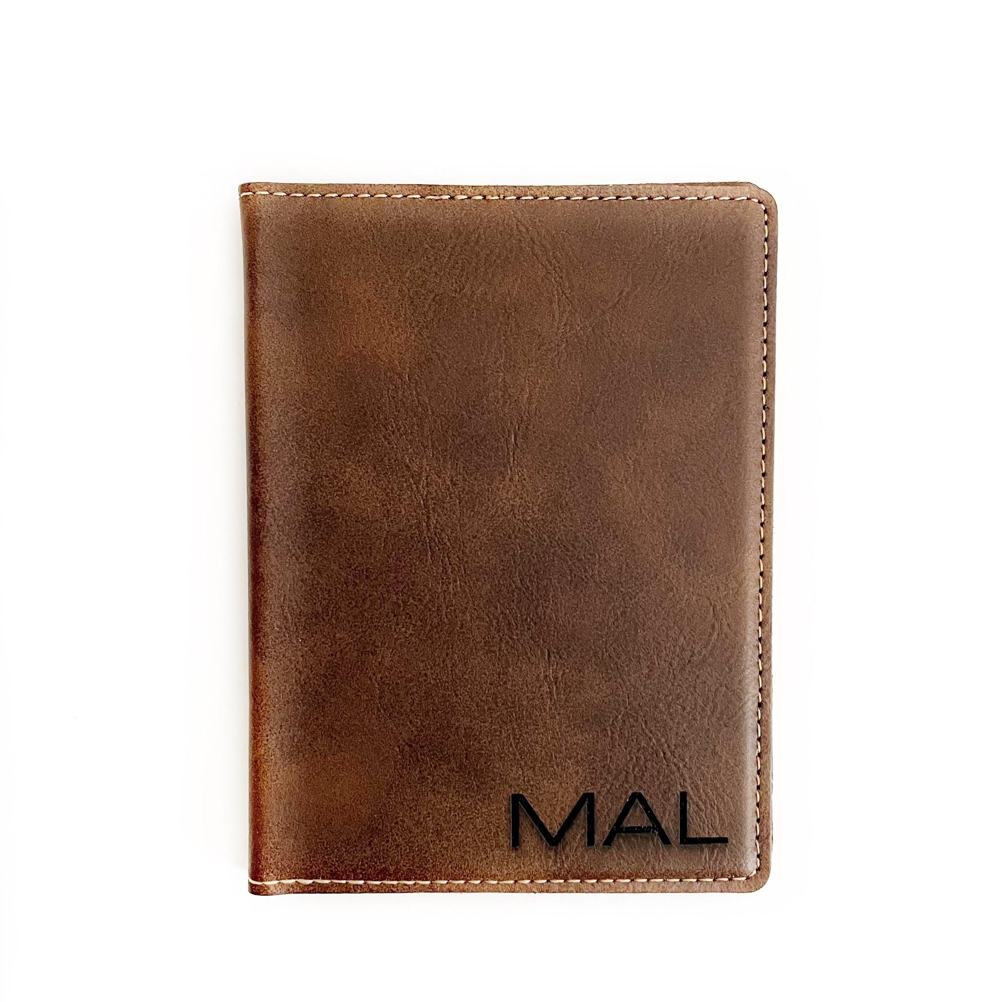 P Graham Dunn Personalized Passport Holder- Brown