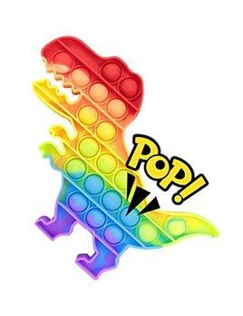 Love and Repeat Dinosaur Push Pop Bubble Fidget Toy