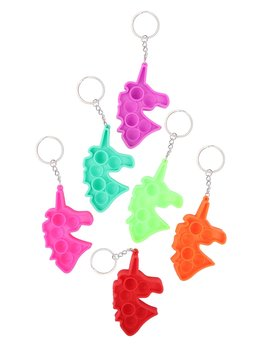 Love and Repeat Unicorn Push Pop Bubble Fidget Toy Keychain