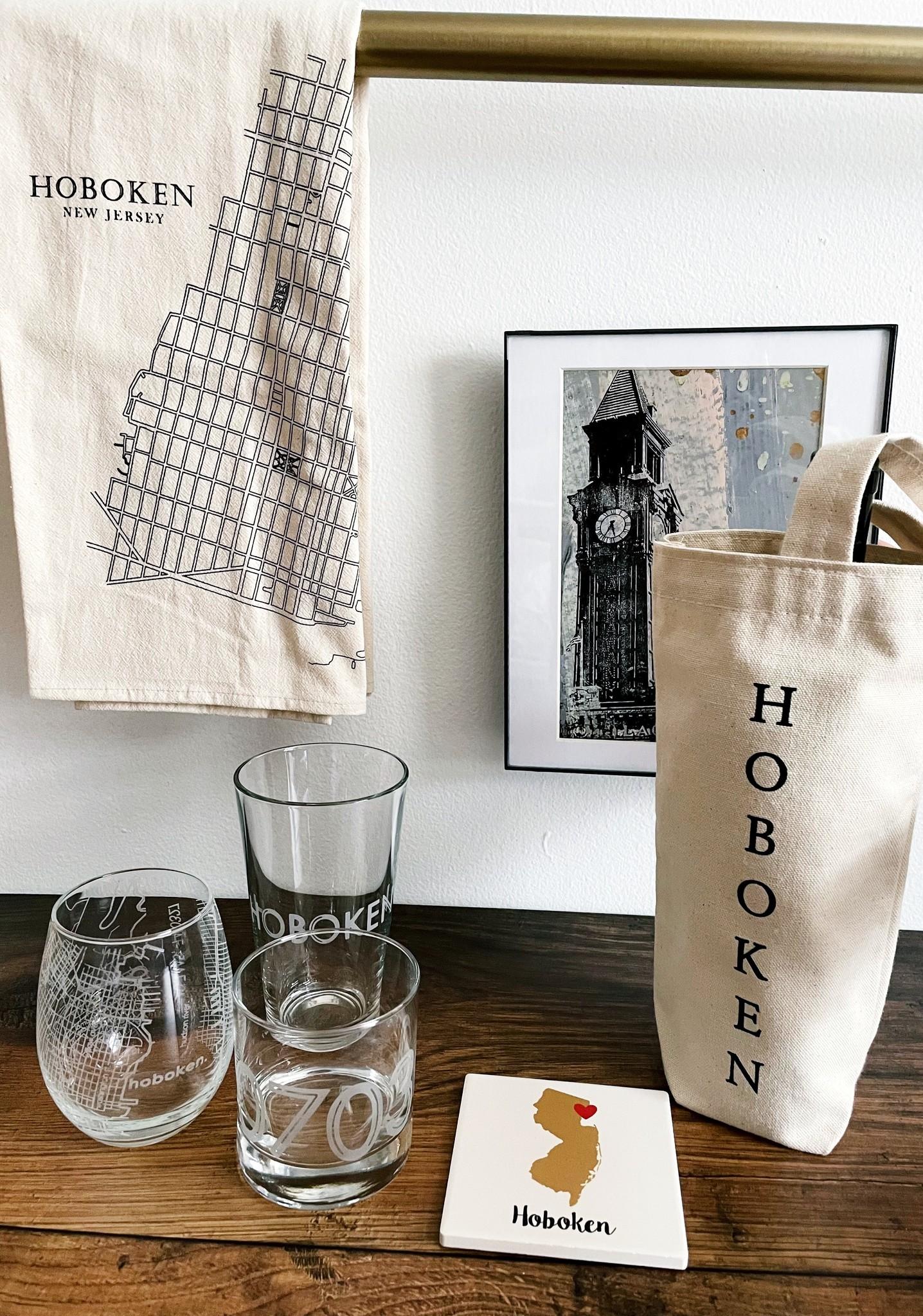 Monster Dance Designs Hoboken Etched Pint Glass