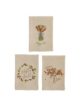 Mudpie Fall French Knot Towels