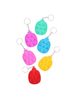Love and Repeat Pineapple Push Pop Bubble Fidget Toy Key Ring