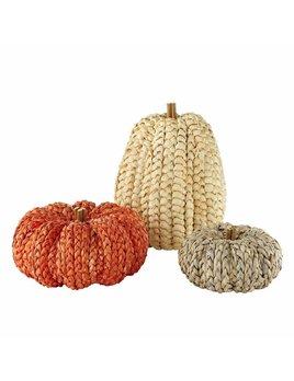 Mudpie Corn Husk Pumpkin