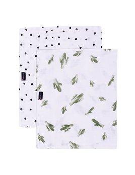 Bebe Au Lait Saguaro & Dottie Oh- So - Soft Muslin Swaddle Blanket Set