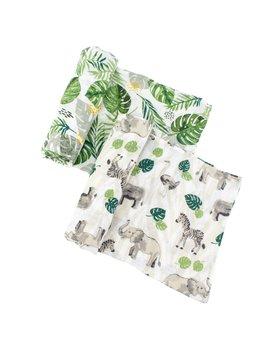 Bebe Au Lait Jungle & Rainforest Classic Muslin Swaddle Blanket Set