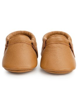 BirdRock Baby Classic Brown Fringless Moccasins