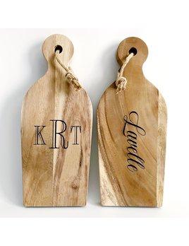 P Graham Dunn Personalized Acacia Wood Paddle Board