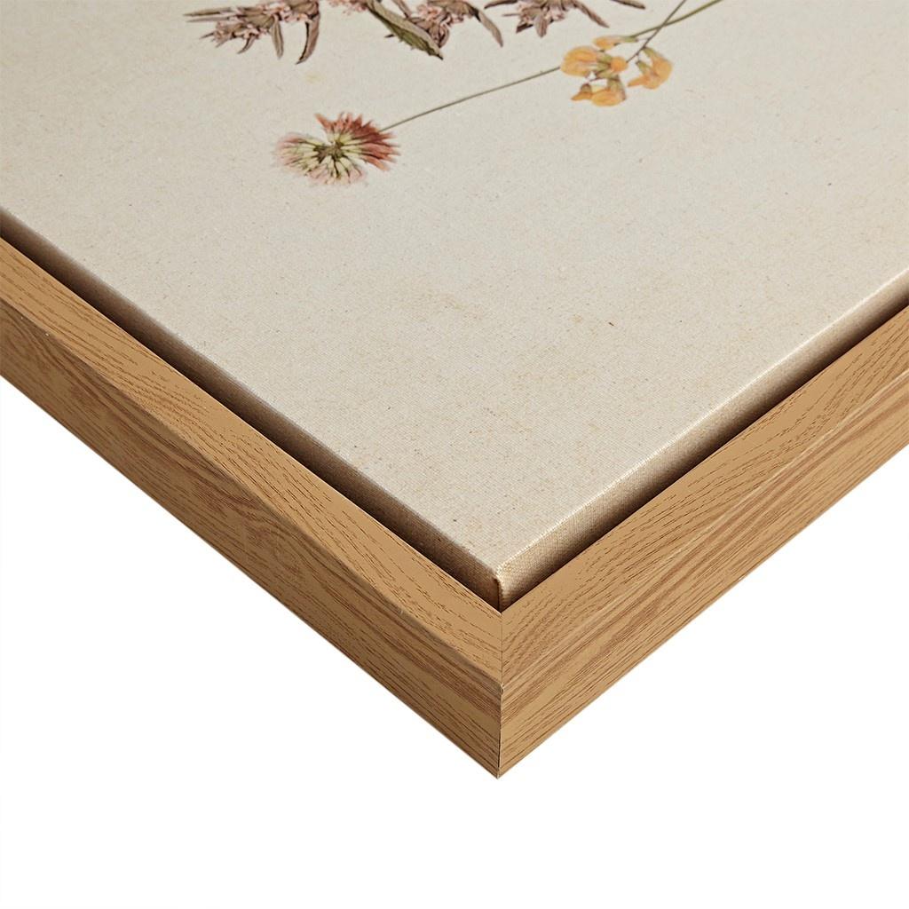 Olliix French Herbarium Floral Wall Decor Linen Canvas Art